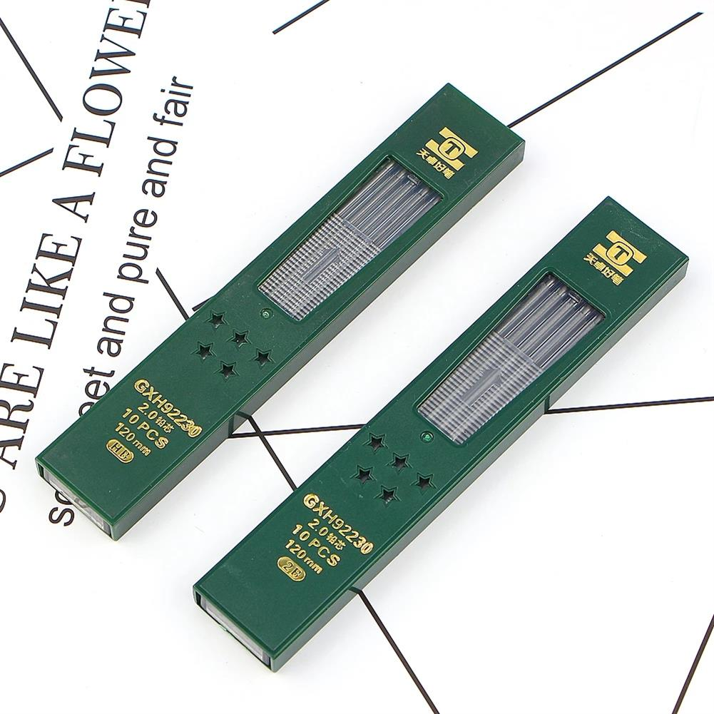 pencil TIZO GXH92230 2.0 2B/HB Graphite Lead 10pcs/box Automatic Pencil Replacement Core Mechanical Pencil Refill for School office Use HOB1781334 3 1
