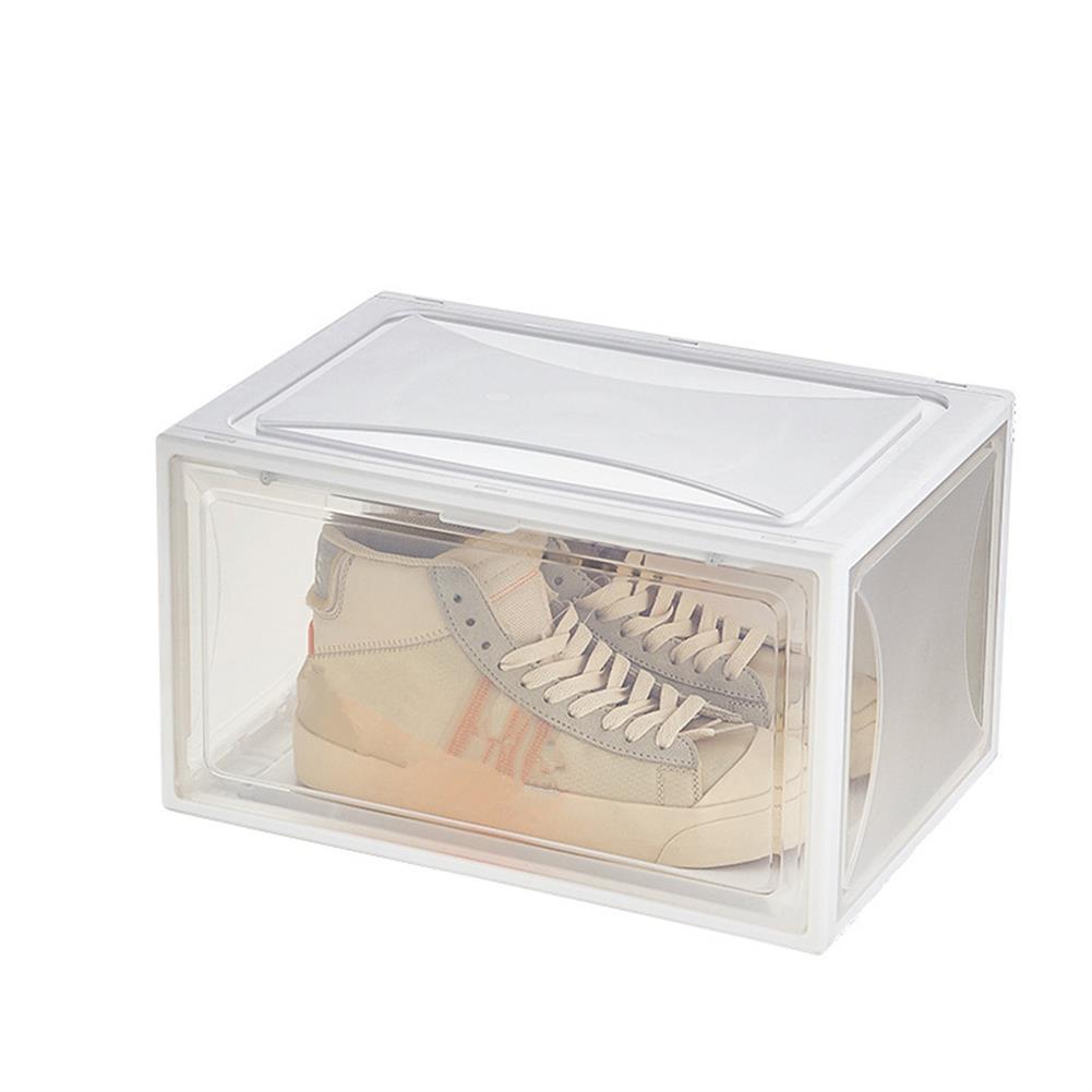 desktop-off-surface-shelves 1 Piece Plastic Shoe Box PP Transparent Filp Cover Sneaker Shoes Storage Racks Stackable Organizer Drawer Shoe Case HOB1781996 1