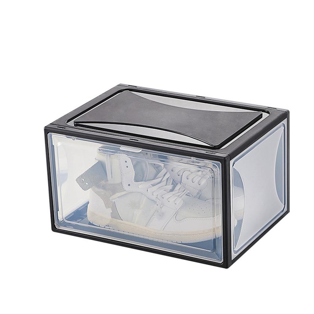 desktop-off-surface-shelves 1 Piece Plastic Shoe Box PP Transparent Filp Cover Sneaker Shoes Storage Racks Stackable Organizer Drawer Shoe Case HOB1781996 1 1