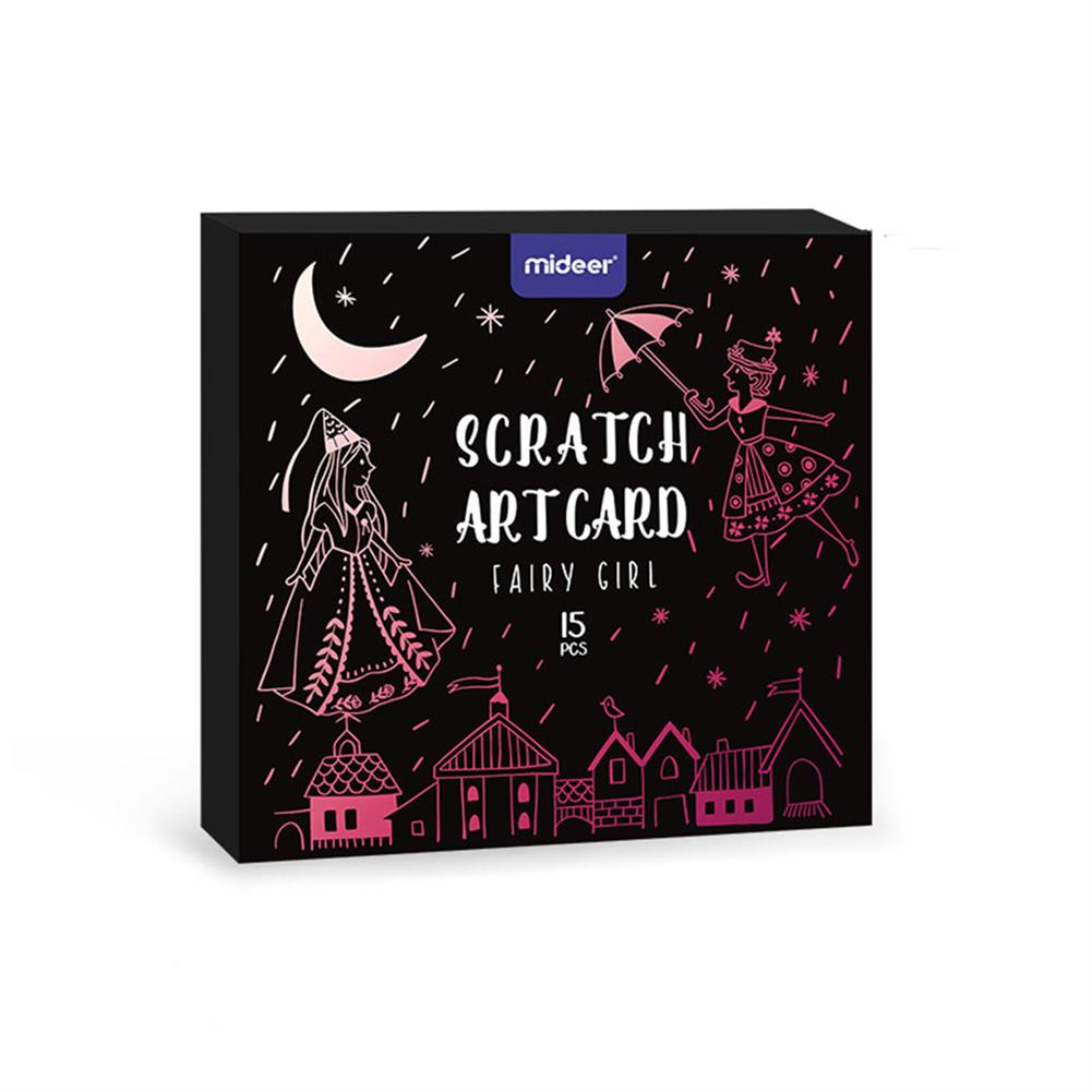 art-kit MiDeer DIY Manual Scraping Painting Color Scratch Cards Copying Notebook Drawing Toys for Children Gift Drawing Toy HOB1782210 1 1