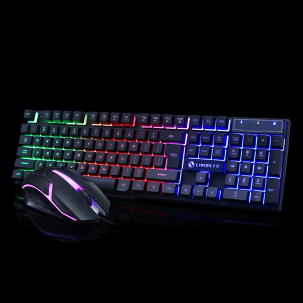 keyboards Glowing Keyboard Mouse Combo 104 Keys USB Wired RGB Backlight Desktop Keyboard Mouse Gaming for PC Laptop Gamer HOB1782212 2 1