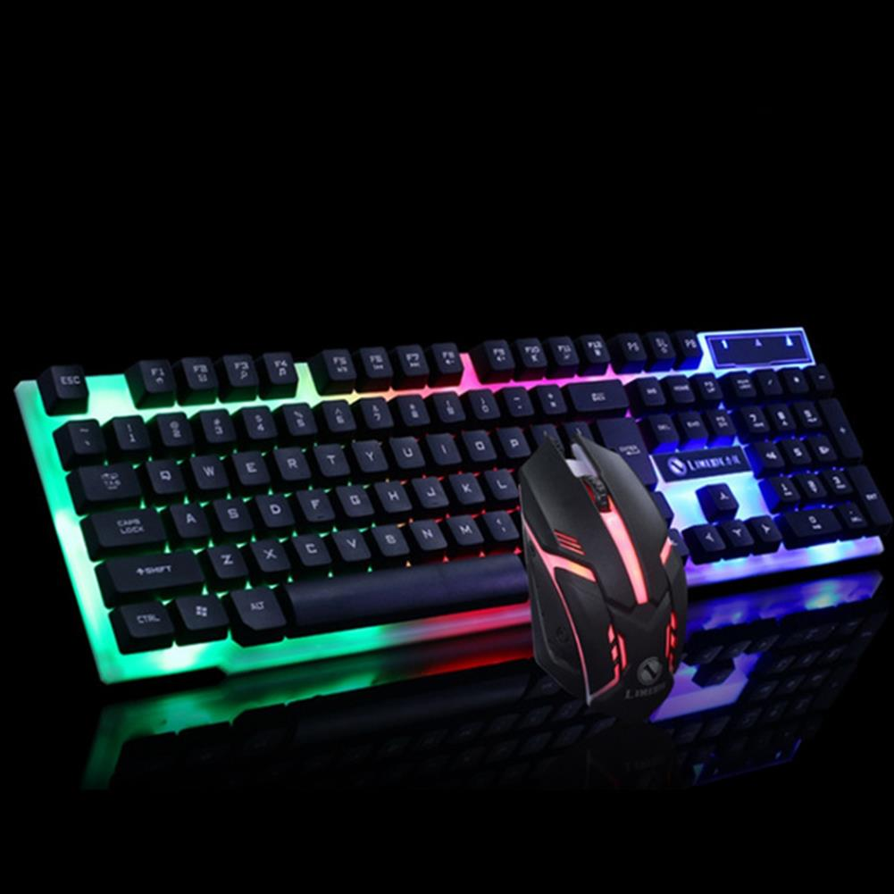 keyboards Glowing Keyboard Mouse Combo 104 Keys USB Wired RGB Backlight Desktop Keyboard Mouse Gaming for PC Laptop Gamer HOB1782212 3 1