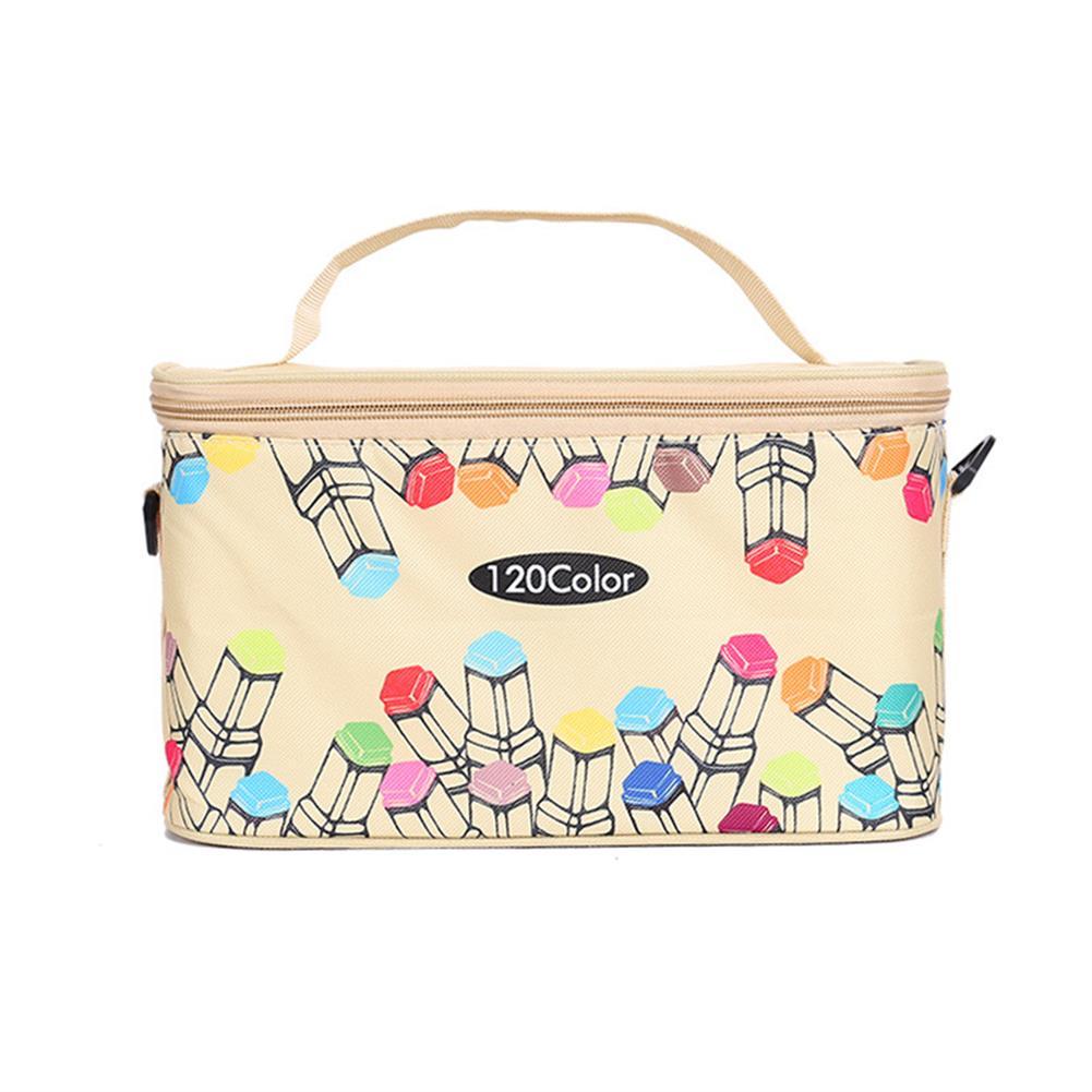 pen-holders, filing BOLANG 80/120 Mark Pen Case Canvas Large Capacity Pen Holder with Handle Painting Bag Marker Pen Storage Bag HOB1782219 1 1