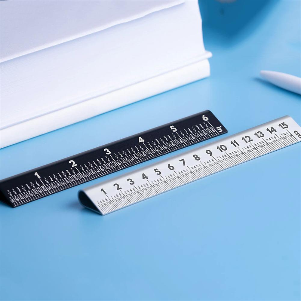 ruler 15cm 30 Ruler RULER 4.0 Double Sided Scale Ruler Measurements Metal Straight Ruler Measuring Drawing Template Tool School office Supplies HOB1782224 1 1