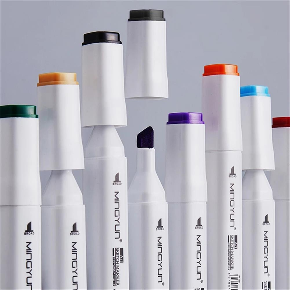 marker 30/40/60/80 Colors Double Head Marker Pen Set Dual Tip Art Watercolor Drawing Pen Brush Students Hand Painted Supplies HOB1782338 3 1