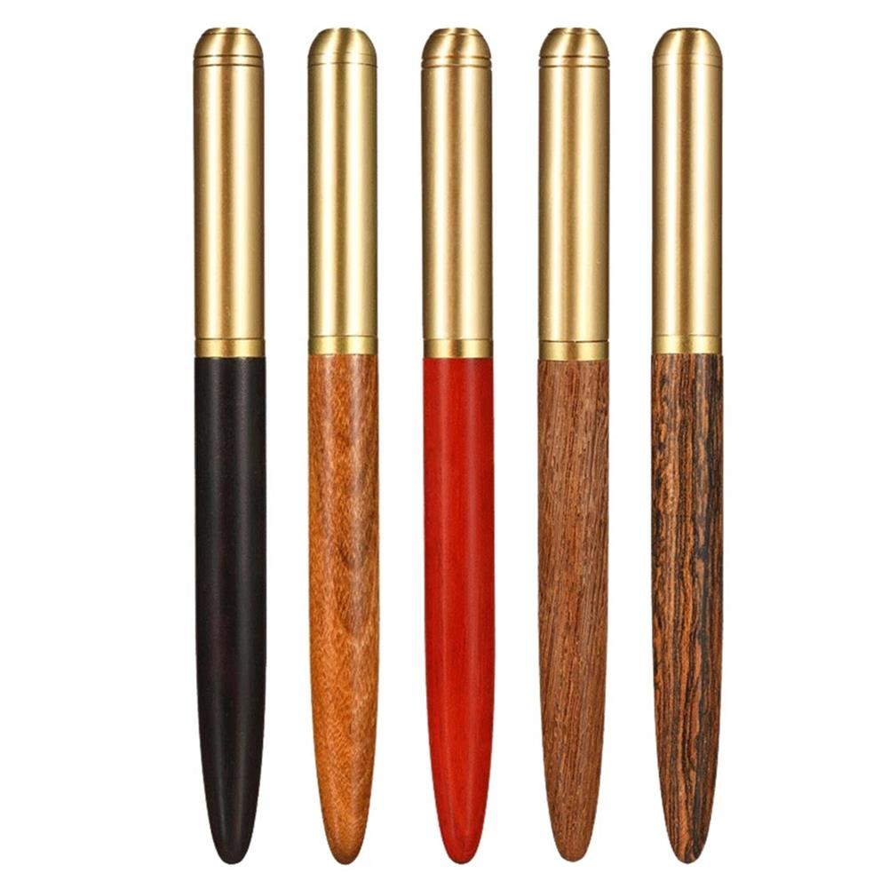 pen 0.7mm Nib Wood Fountain Pen ink Classic Metal Wood Pen Calligraphy Writing Business Gifts Stationery office School Supplies HOB1782368 1