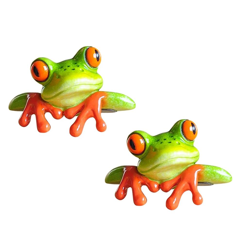 other-learning-office-supplies 1pc 3D Resin Frog Craft Ornament Creative Miniature Statue office Desk Computer Decoration Front Style Kids Toys Gift HOB1782586 2 1