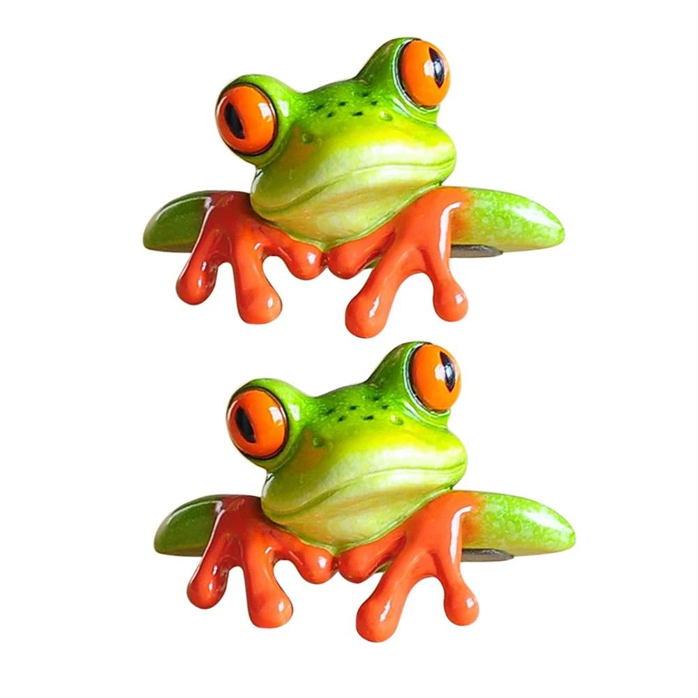 other-learning-office-supplies 1pc 3D Resin Frog Craft Ornament Creative Miniature Statue office Desk Computer Decoration Front Style Kids Toys Gift HOB1782586 3 1