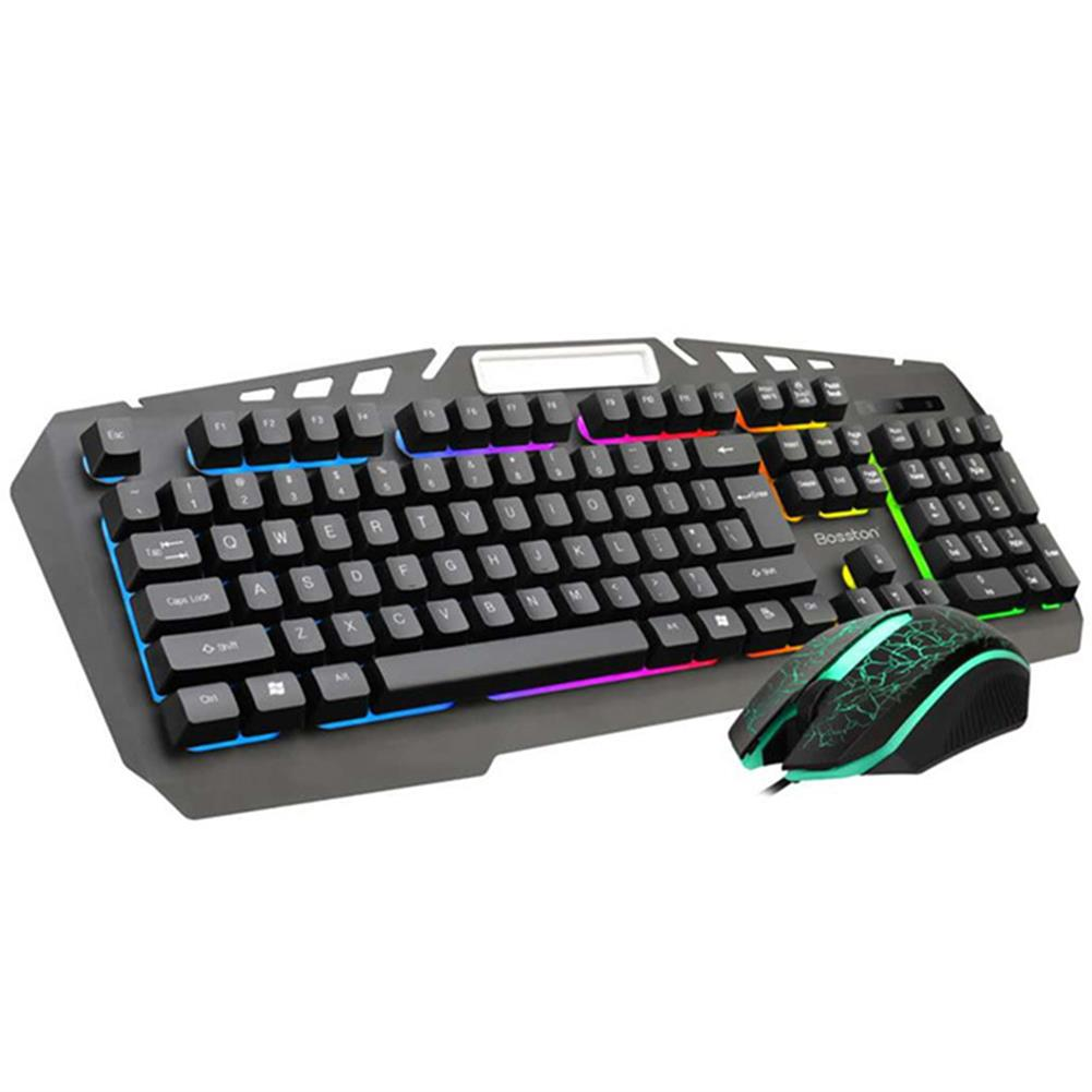 keyboards 104 Key Wired Mechanical Feel Keyboard and Mouse Set USB Backlight Desktop Computer Gaming Keyboard Gaming Mouse HOB1783017 1