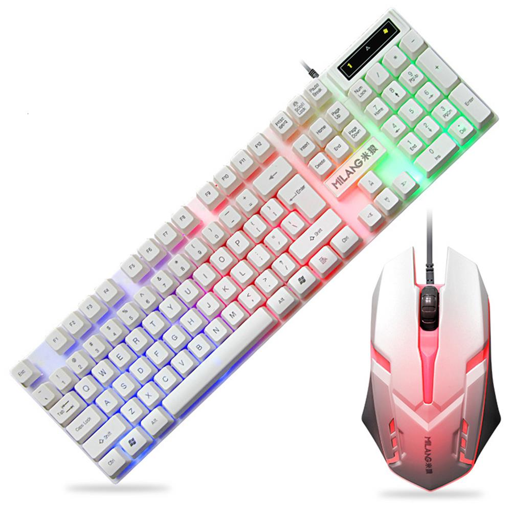 keyboards 104 Keys Wired Keyboard and Mouse Set Rainbow Backlight USB 1000 DPI Gaming Keyboard for Home office Computer Supplies HOB1783423 1 1