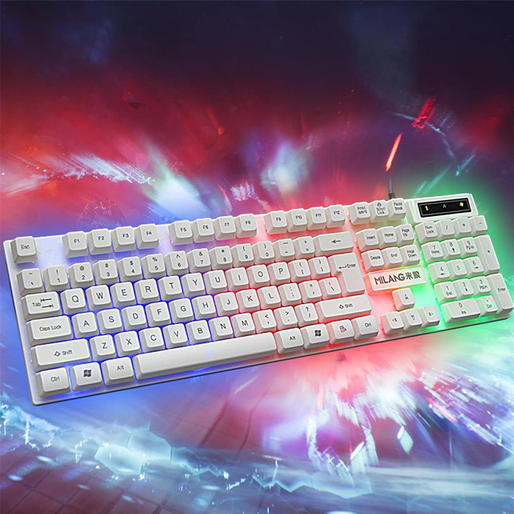 keyboards 104 Keys Wired Keyboard and Mouse Set Rainbow Backlight USB 1000 DPI Gaming Keyboard for Home office Computer Supplies HOB1783423 3 1
