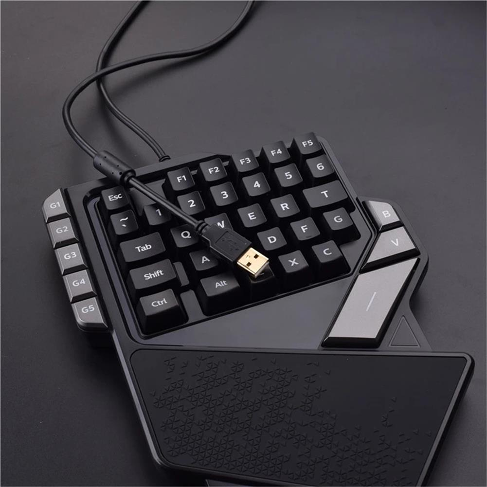 keyboards AULA K2 Wired one-Handed Gaming Keyboard Mechanial Feel 38 keys Portable Mini Gaming Keypad with Media Controller for Laptop Computer Smartphone HOB1783895 3 1