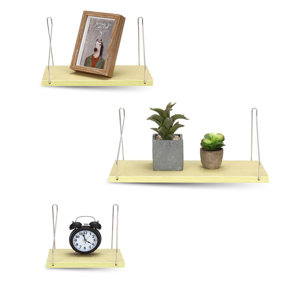 book-stands Home Wall Mounted Rack Iron Wooden Hanging Storage Rack Floating Shelf Display Decor for Bedroom office Bathroom HOB1783957 1