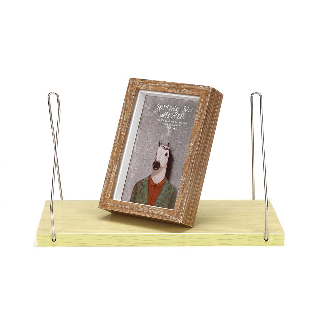 book-stands Home Wall Mounted Rack Iron Wooden Hanging Storage Rack Floating Shelf Display Decor for Bedroom office Bathroom HOB1783957 1 1