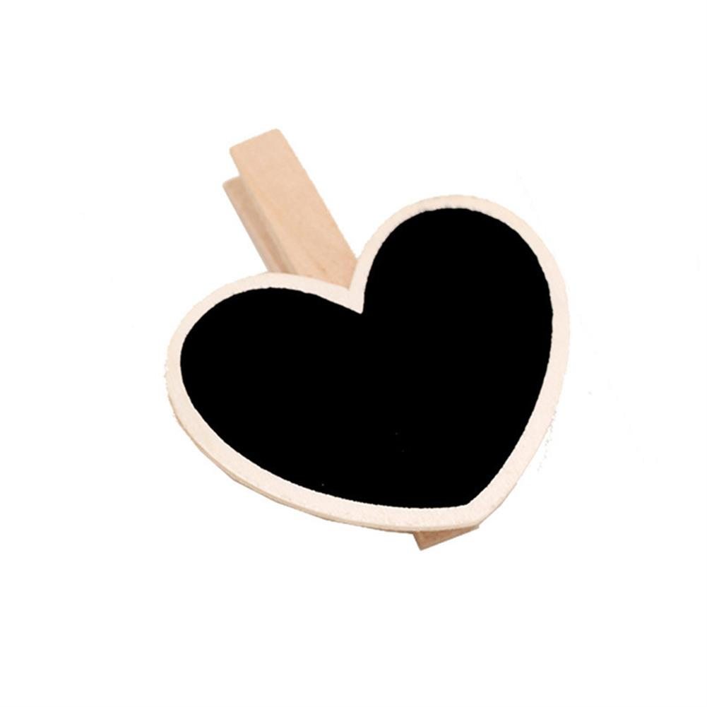 other-learning-office-supplies 10pcs Mini Wooden Blackboard DIY Rectangle Heart Shape Clip Tag for Wedding Restaurant Party office Supplies Gift Stationery HOB1784736 2 1