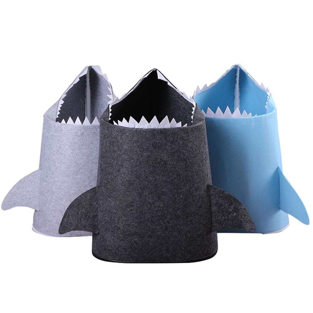 other-learning-office-supplies 1pc Shark Shaped Felt Storage Basket Multi-Functional Cartoon Storage Box for Toys Clothes Basket Bags Home Storage Organizer HOB1784831 1