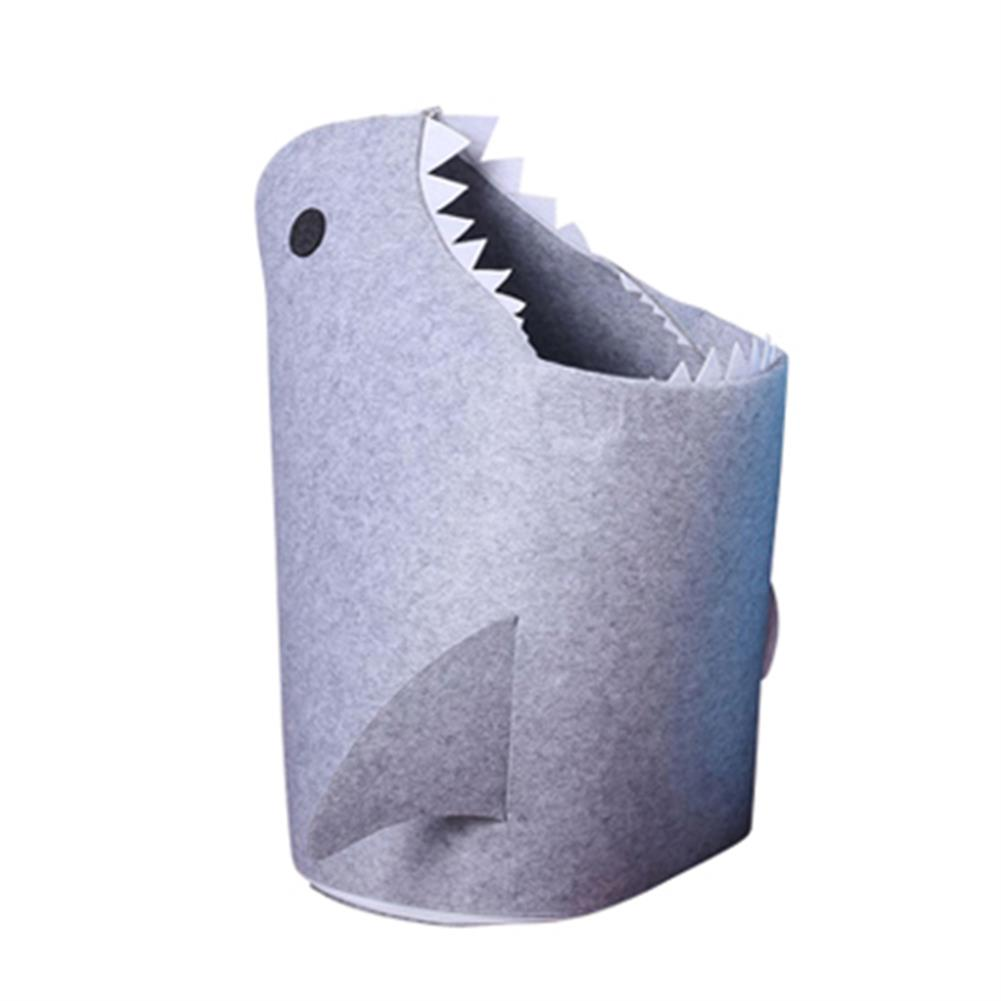 other-learning-office-supplies 1pc Shark Shaped Felt Storage Basket Multi-Functional Cartoon Storage Box for Toys Clothes Basket Bags Home Storage Organizer HOB1784831 1 1