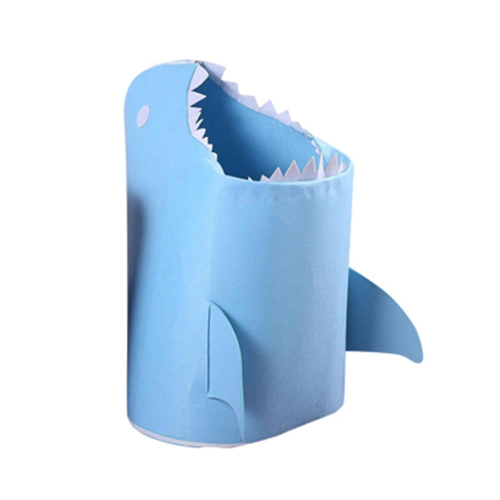 other-learning-office-supplies 1pc Shark Shaped Felt Storage Basket Multi-Functional Cartoon Storage Box for Toys Clothes Basket Bags Home Storage Organizer HOB1784831 2 1