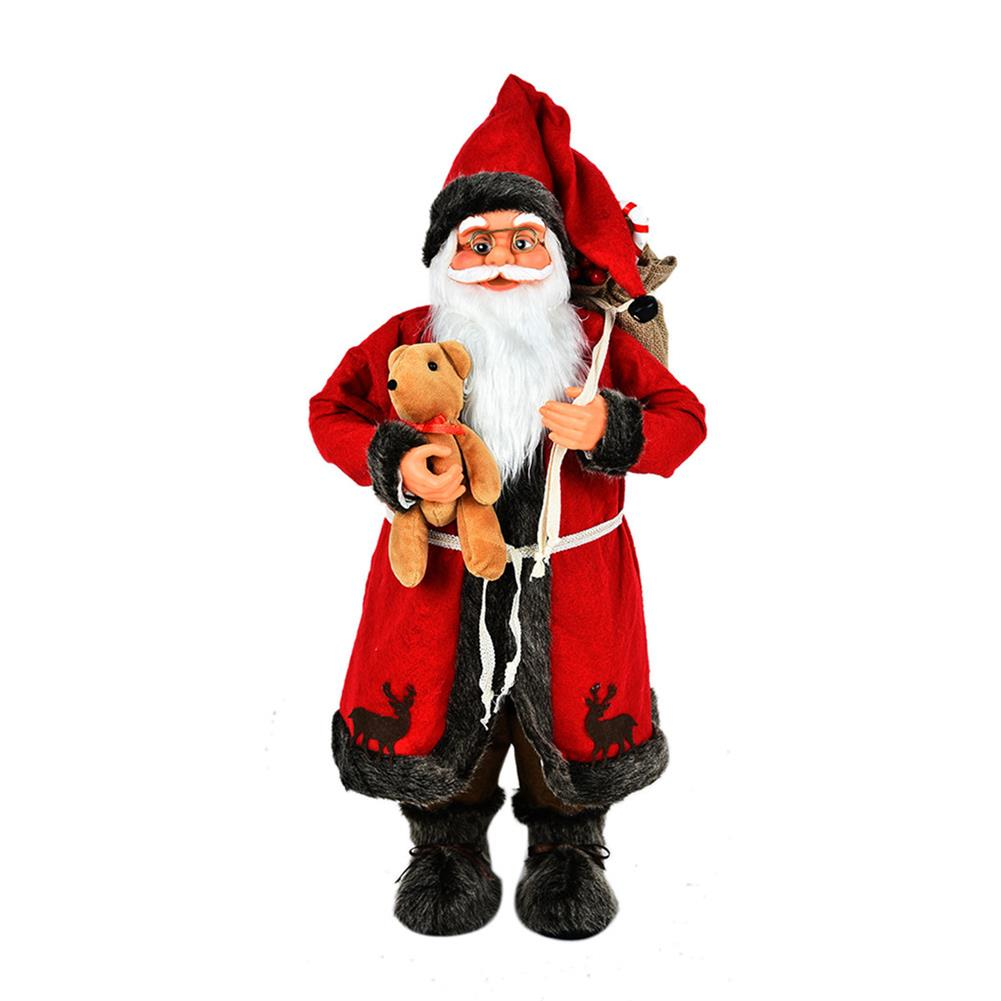 other-learning-office-supplies 1pc 30cm Pendant Bear Santa Mall Decoration Festival Party for Cute Christmas Tree Party Home Ornaments Supplies HOB1784990 1