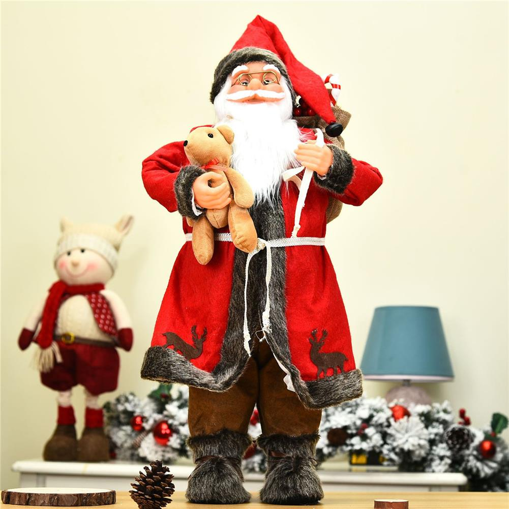 other-learning-office-supplies 1pc 30cm Pendant Bear Santa Mall Decoration Festival Party for Cute Christmas Tree Party Home Ornaments Supplies HOB1784990 1 1