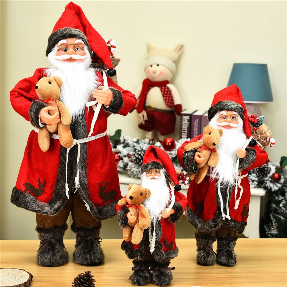 other-learning-office-supplies 1pc 30cm Pendant Bear Santa Mall Decoration Festival Party for Cute Christmas Tree Party Home Ornaments Supplies HOB1784990 2 1