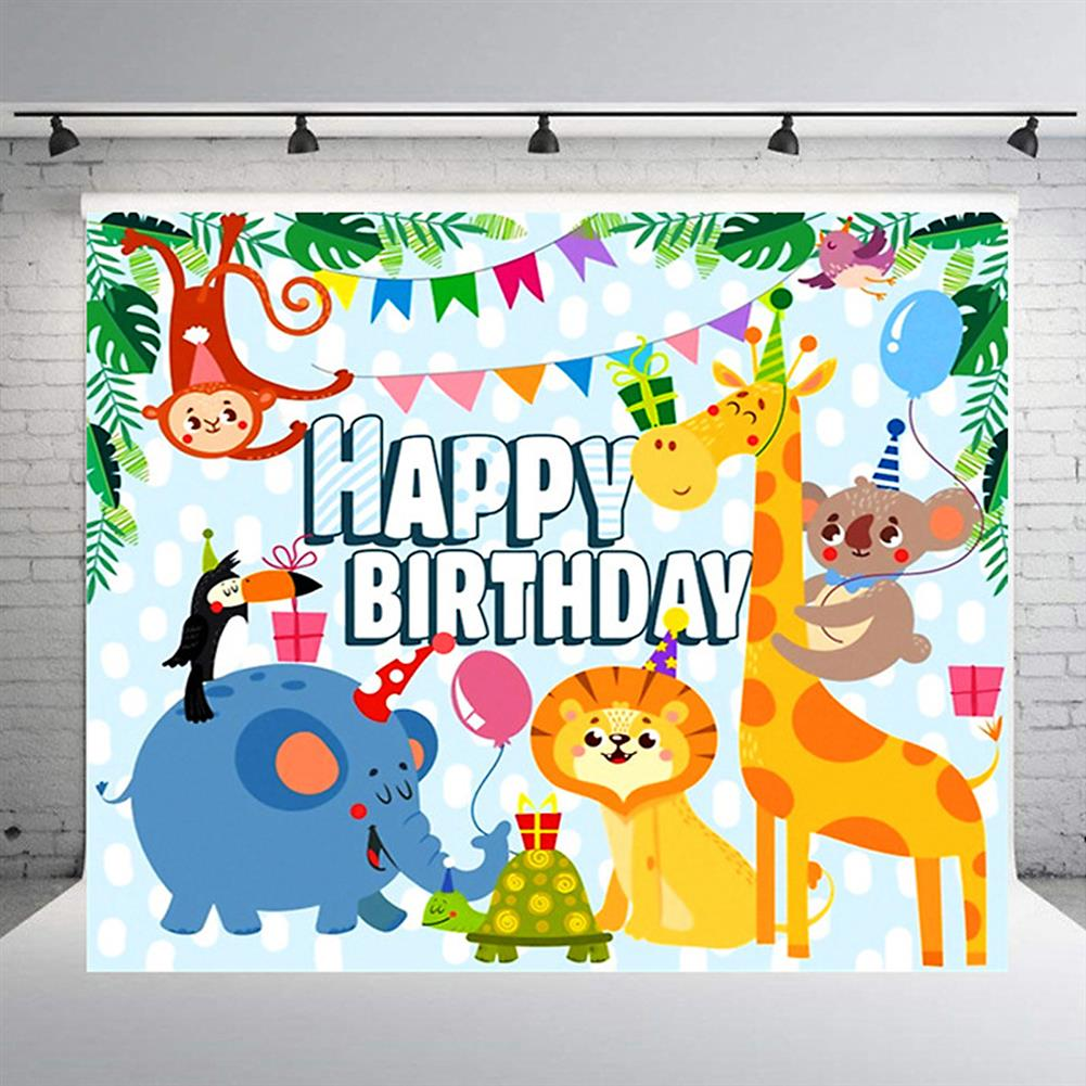 other-learning-office-supplies Photography Background Cloth cartoon Animal Birthday Props for Children's Photo Studio Home Wall Ornament Supplies HOB1785007 1 1