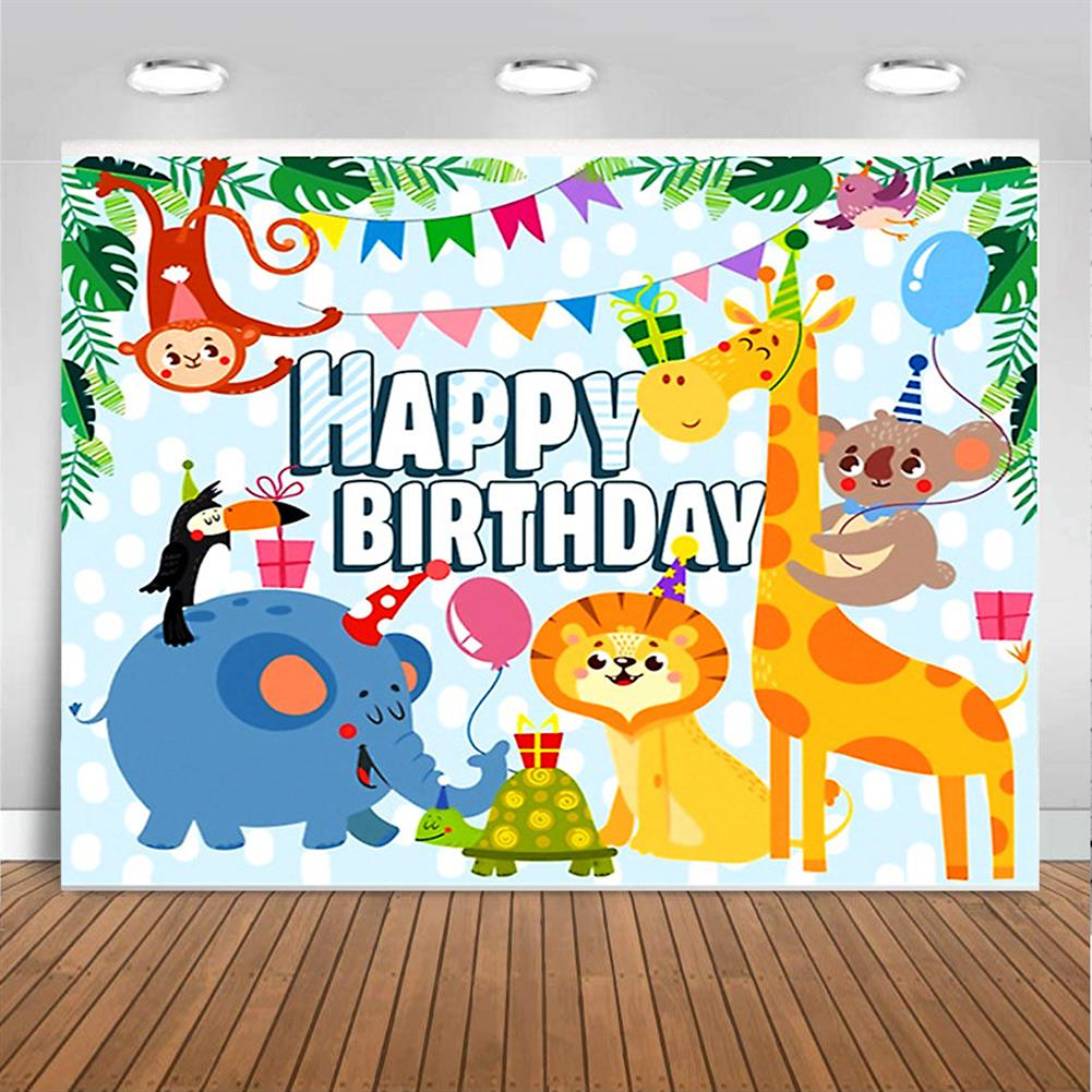 other-learning-office-supplies Photography Background Cloth cartoon Animal Birthday Props for Children's Photo Studio Home Wall Ornament Supplies HOB1785007 2 1
