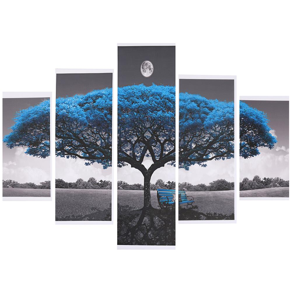 art-kit 5Pcs Big Tree Canvas Paintings Wall Decorative Print Art Pictures Unframed Wall Hanging Home office Decorations HOB1785031 1