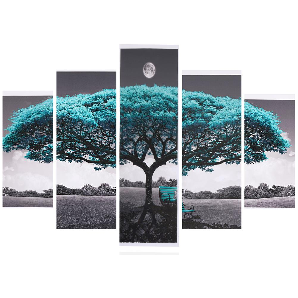 art-kit 5Pcs Big Tree Canvas Paintings Wall Decorative Print Art Pictures Unframed Wall Hanging Home office Decorations HOB1785031 1 1