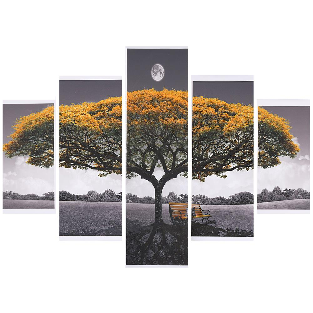 art-kit 5Pcs Big Tree Canvas Paintings Wall Decorative Print Art Pictures Unframed Wall Hanging Home office Decorations HOB1785031 2 1