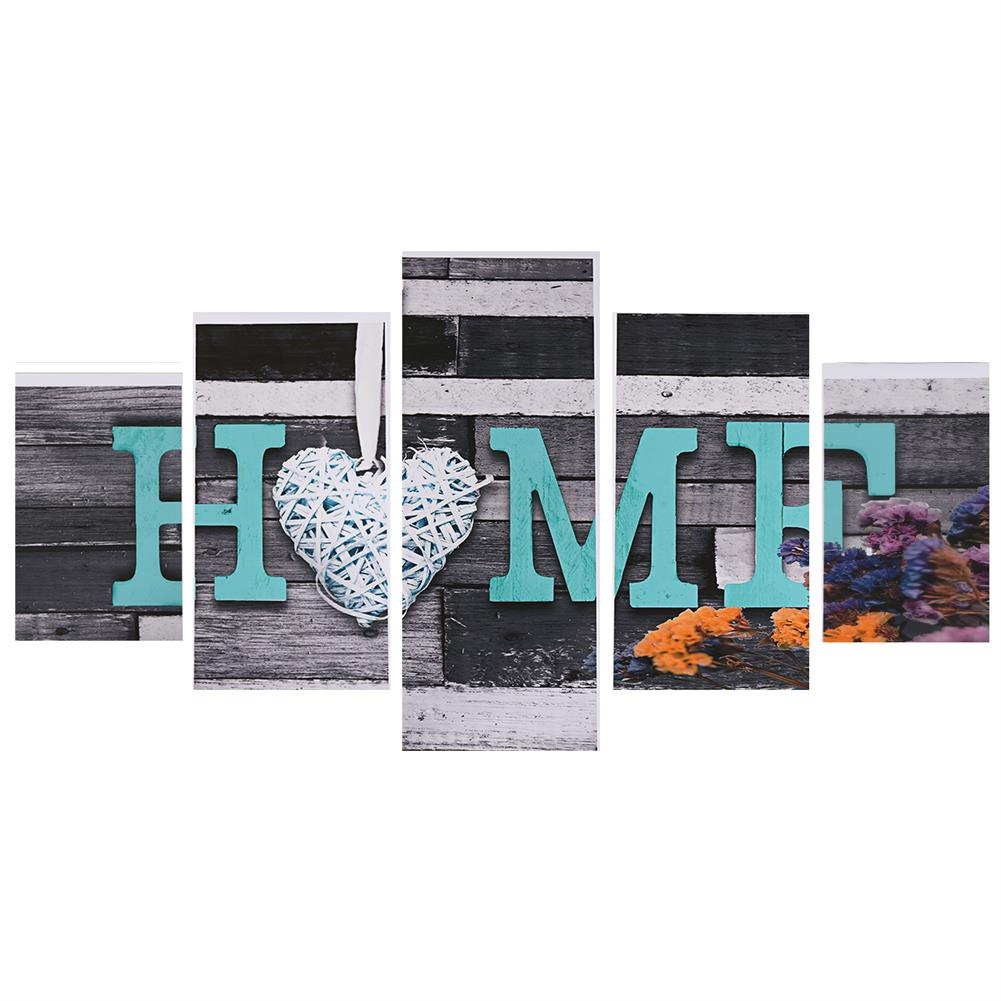 art-kit 5Pcs Canvas Paintings Love HOME Wall Decorative Print Art Pictures Unframed Wall Hanging Home office Decorations HOB1785063 1