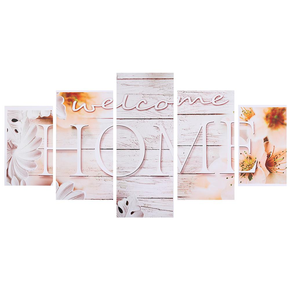 art-kit 5Pcs Canvas Paintings Love HOME Wall Decorative Print Art Pictures Unframed Wall Hanging Home office Decorations HOB1785063 1 1