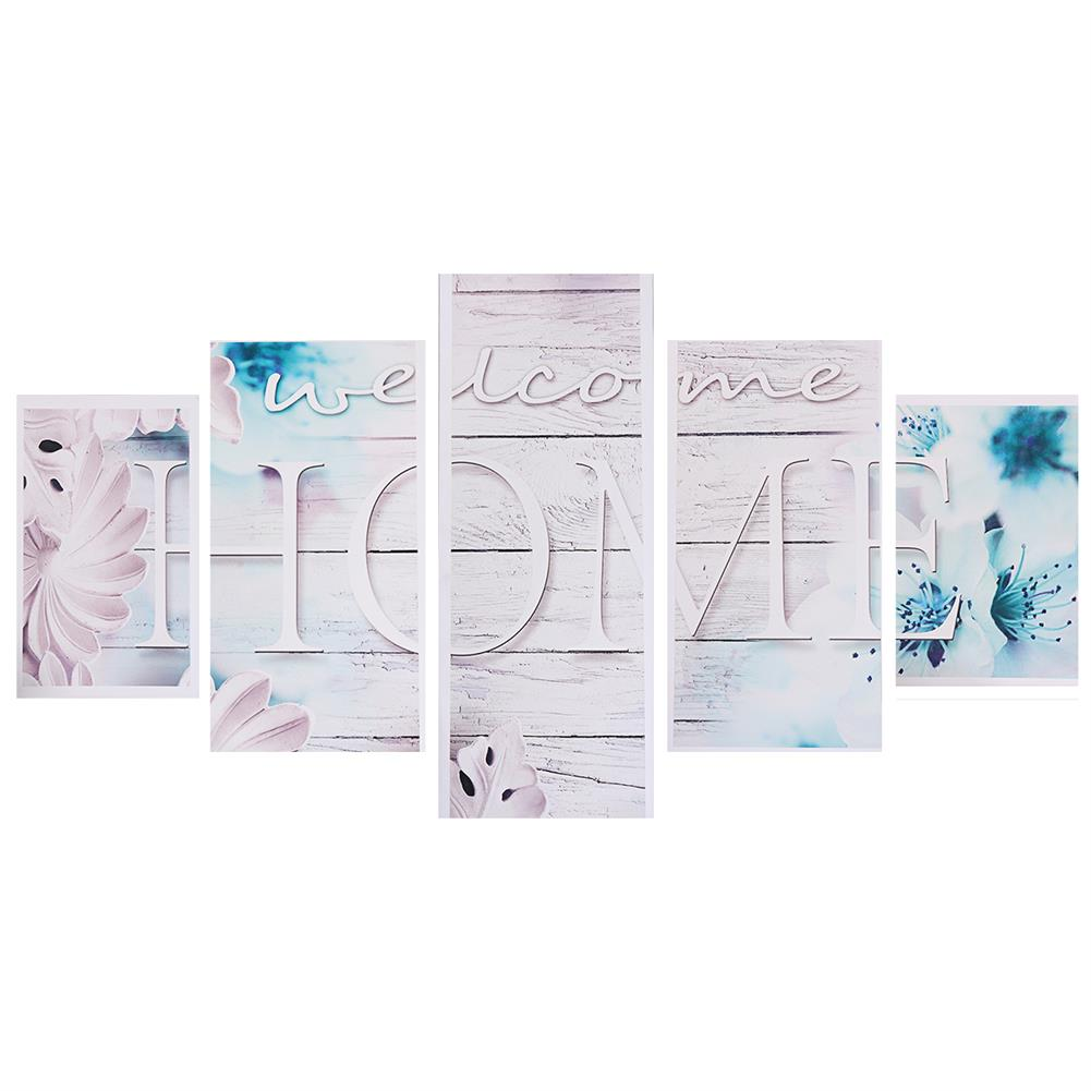 art-kit 5Pcs Canvas Paintings Love HOME Wall Decorative Print Art Pictures Unframed Wall Hanging Home office Decorations HOB1785063 2 1