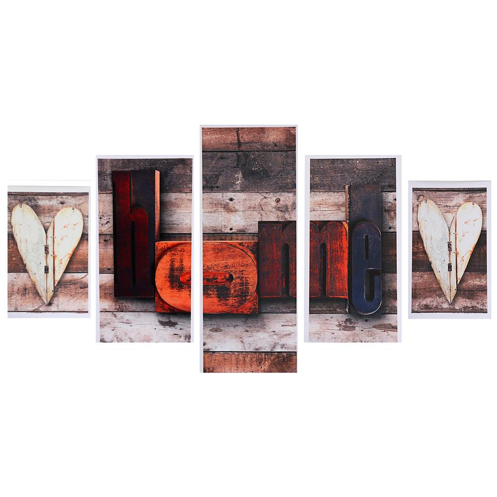 art-kit 5Pcs Canvas Paintings Love HOME Wall Decorative Print Art Pictures Unframed Wall Hanging Home office Decorations HOB1785063 3 1