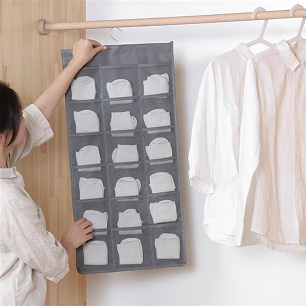 multi-function-folder, filing 30 Pockets Hanging Underwear Storage Bag Double Sided Wall Door Bra Socks Hanging Closet Wardrobe Organizer HOB1785497 1 1