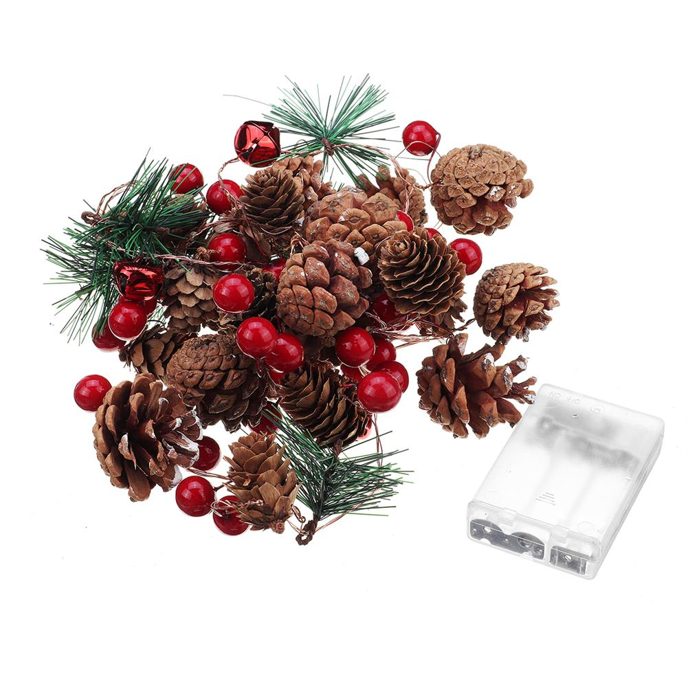 other-learning-office-supplies Christmas Pine Cone String Lights Red Melons & Pine Cores Christmas Tree Snowman indoor Garden Party Decor HOB1785863 1
