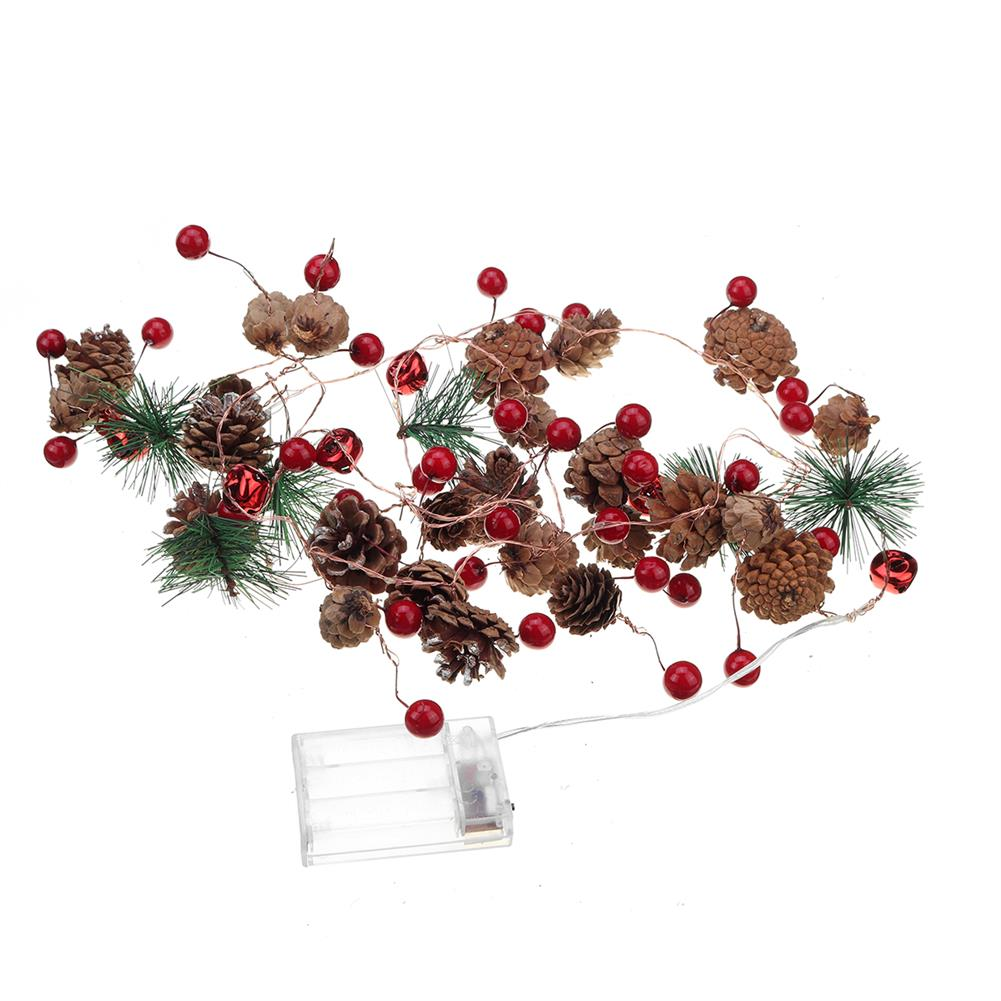 other-learning-office-supplies Christmas Pine Cone String Lights Red Melons & Pine Cores Christmas Tree Snowman indoor Garden Party Decor HOB1785863 1 1