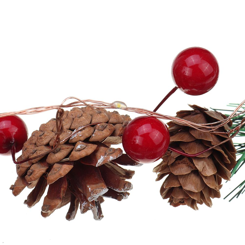other-learning-office-supplies Christmas Pine Cone String Lights Red Melons & Pine Cores Christmas Tree Snowman indoor Garden Party Decor HOB1785863 2 1