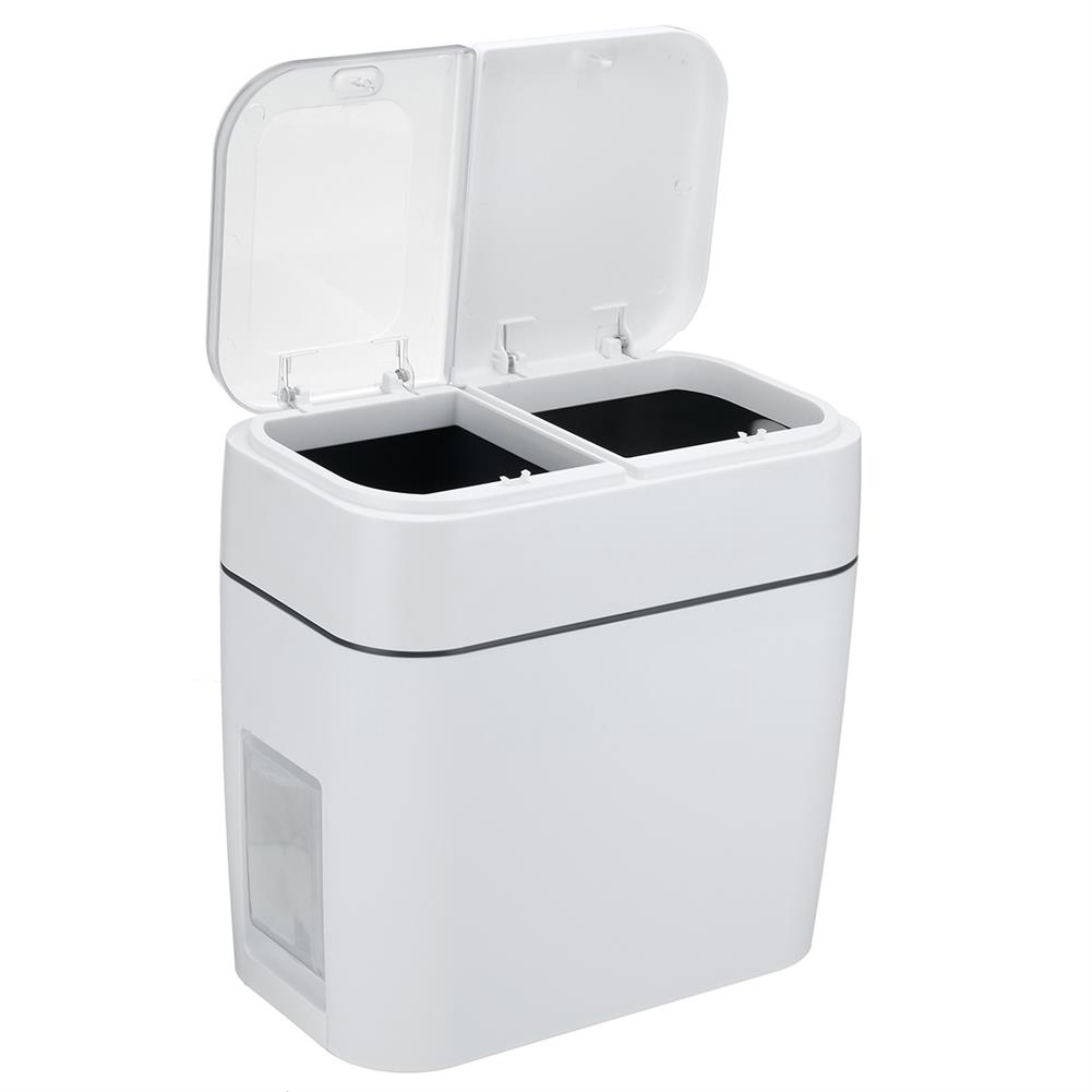 other-learning-office-supplies 12L Multi Functional Classification Trash Can Household Press Type Garbage Living Room Bathroom Kitchen Waste Dustbin HOB1786122 2 1