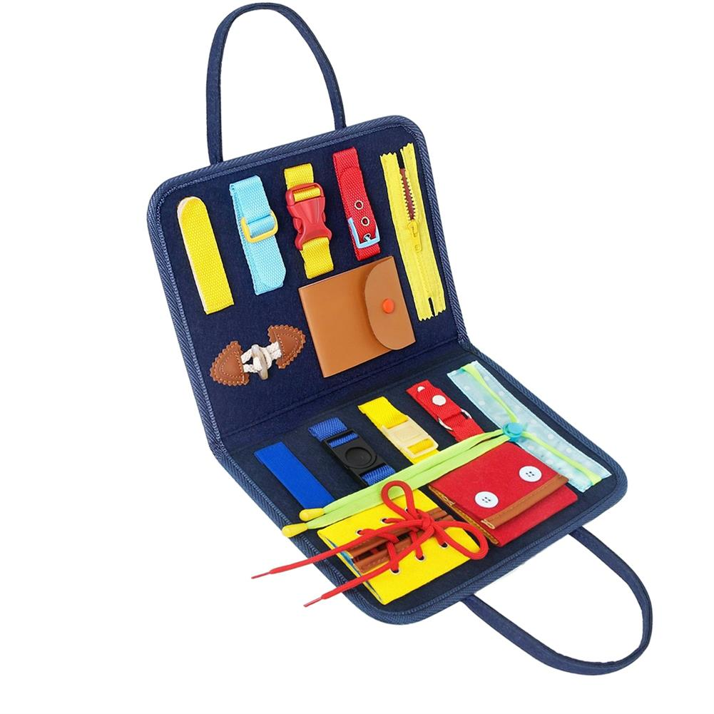 other-learning-office-supplies Children Busy Board Non Toxic 14 in 1 Children Playing English Letter Learning Hands-on Ability Practicing Handbag for Gifts HOB1786789 1