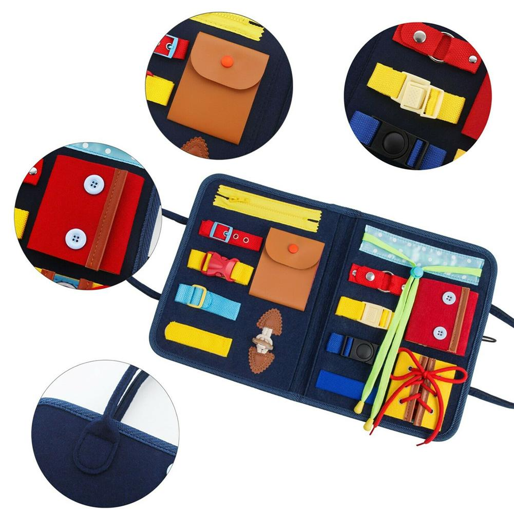 other-learning-office-supplies Children Busy Board Non Toxic 14 in 1 Children Playing English Letter Learning Hands-on Ability Practicing Handbag for Gifts HOB1786789 2 1