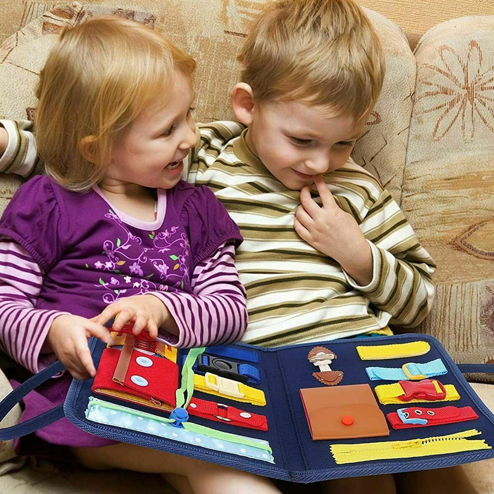 other-learning-office-supplies Children Busy Board Non Toxic 14 in 1 Children Playing English Letter Learning Hands-on Ability Practicing Handbag for Gifts HOB1786789 3 1