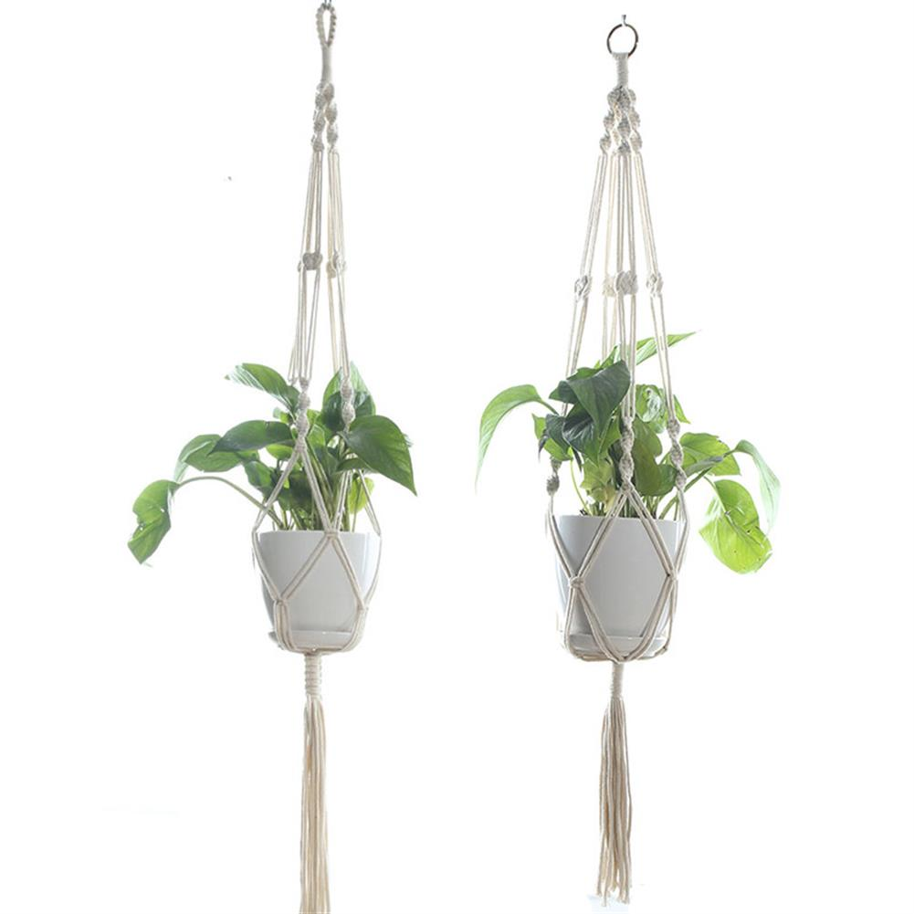 other-learning-office-supplies Gardening Pot Cotton Rope Hanging Net Flower Pot Holding Basket Net for indoor Outdoor Garden Home office Decoration HOB1786842 1