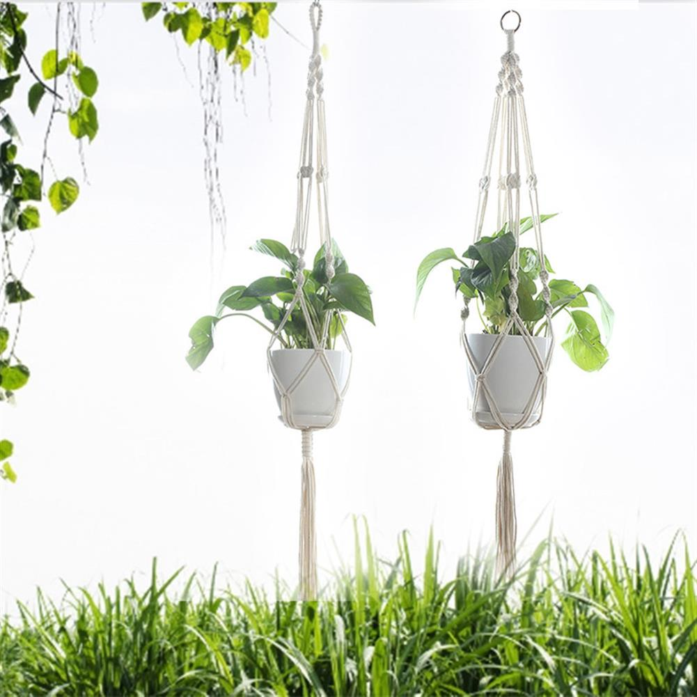 other-learning-office-supplies Gardening Pot Cotton Rope Hanging Net Flower Pot Holding Basket Net for indoor Outdoor Garden Home office Decoration HOB1786842 1 1