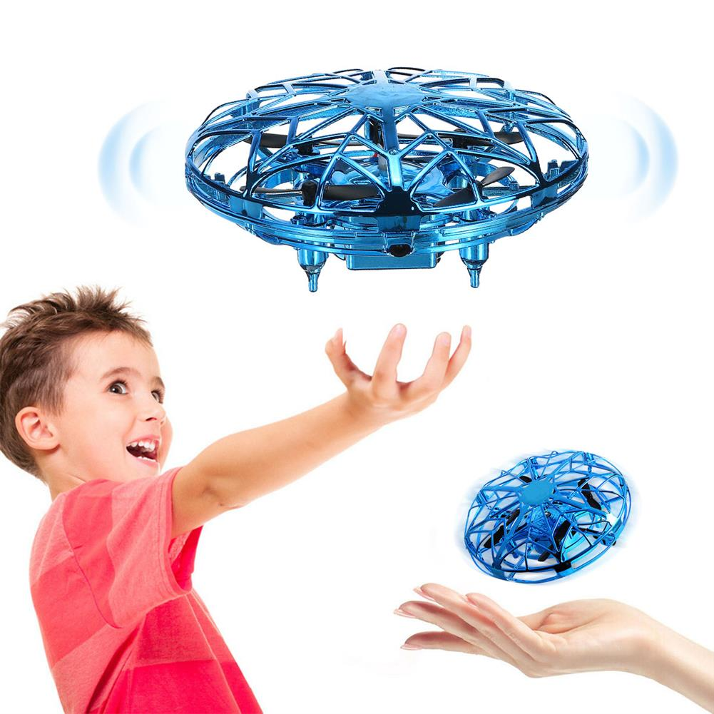 other-learning-office-supplies UFO Flying Aircraft Toy Mini Quad Hand-Controlled induction Levitation Mini Drone Double Protection Safe Toy for Children Outdoor Activities HOB1786884 1 1