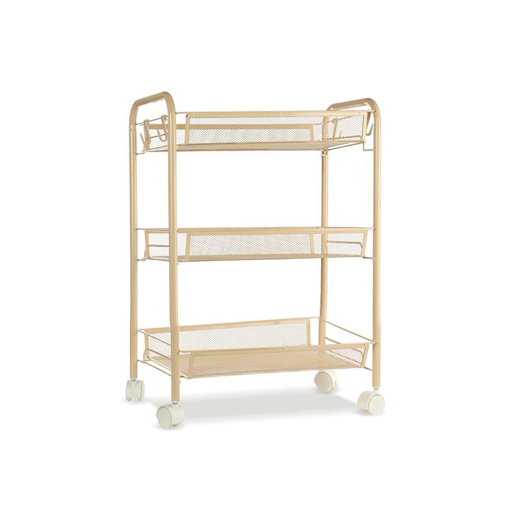 book-stands 3/4/5 Tier Kitchen Trolley Storage Rack Holder Rolling Landing Organizer Shelf with Wheel for Kitchen Bathroom office HOB1786957 1