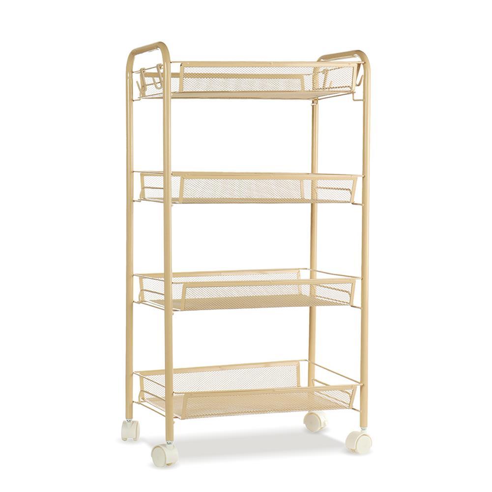 book-stands 3/4/5 Tier Kitchen Trolley Storage Rack Holder Rolling Landing Organizer Shelf with Wheel for Kitchen Bathroom office HOB1786957 1 1