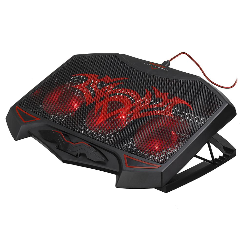 cooling-pads-stands Gaming Laptop Cooling LED Light 3 Fan Extra USB Ports 1000+-10%RPM Laptop Cooling Pad Notebook Stand for 12'' to 17'' Notebooks HOB1787675 3 1