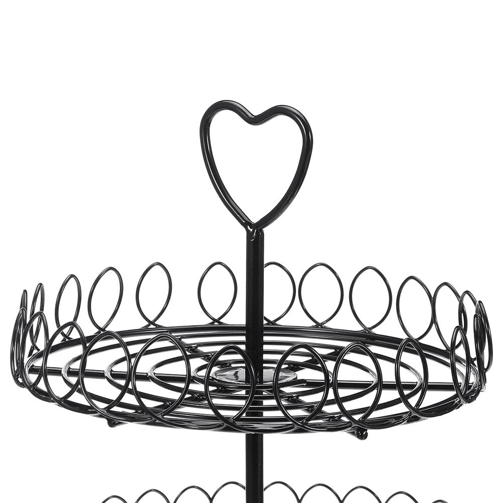 other-learning-office-supplies 2 Tiers Cake Stand Black Metal Food Holder Tower Dessert Carrier Display for Wedding Birthday Party Decoration HOB1787686 2 1