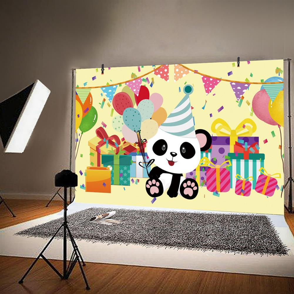 other-learning-office-supplies Canvas Photography Backdrop Panda Happy Birthday Party theme Photography Tapestry for StudioPhotography Home Decoration HOB1787840 1 1